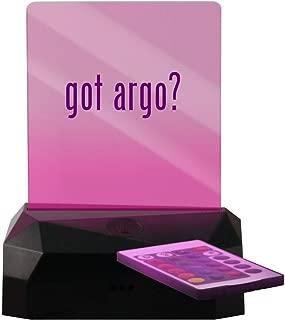 got Argo? - LED Rechargeable USB Edge Lit Sign