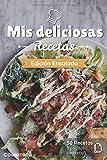 Mis deliciosas Recetas - Edición Ensalada: Libro de recetas para ser completado y personalizado | 50 recetas | 2 páginas cada una