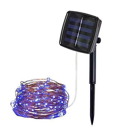 [Upgraded] LIUguoo Solar Powered String Lights, 50 LED Copper Wire Lights, Fairy Lights, Indoor/Outdoor Waterproof Solar Decoration Lights for Gardens, Home, Dancing, Party, Christmas