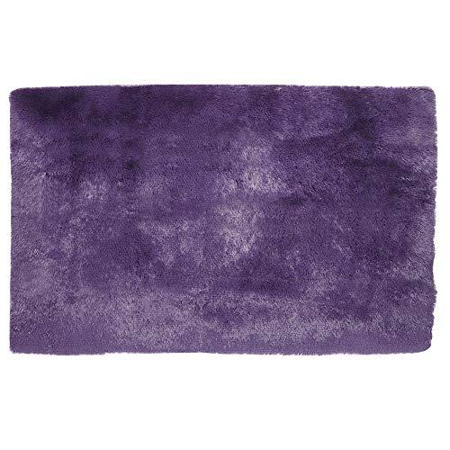 Tapete de piso, tapete macio de forma retangular Tapete de piso inferior antiderrapante, para(Gray purple, 120*160cm)