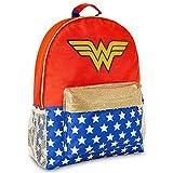 DC Comics Sac A Dos Femme Wonder Woman, Grand Sac Cartable en Toile Adulte Ou Enfant pour...