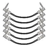 Donner Patchkabel Gitarre 15cm 1/4 Zoll Rechtwinkliger Stecker, Effektpedal Kabel für Instrument Jumper Kabel (6 Stück)