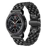 TRUMiRR Armband kompatibel Für Samsung Gear S3 Frontier/Classic/Huawei Watch GT Armband, 22mm Edelstahl Uhrenarmband Quick Release Armband für Samsung Gear S3 Classic Frontier, Galaxy...