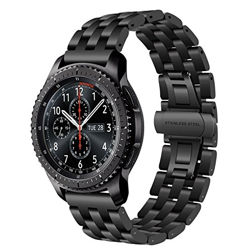 TRUMiRR Armband kompatibel Für Samsung Gear S3 Frontier/Classic/Huawei Watch GT Armband, 22mm Edelstahl Uhrenarmband Quick Release Armband für Samsung Galaxy Watch3 45mm, Galaxy Watch 46mm