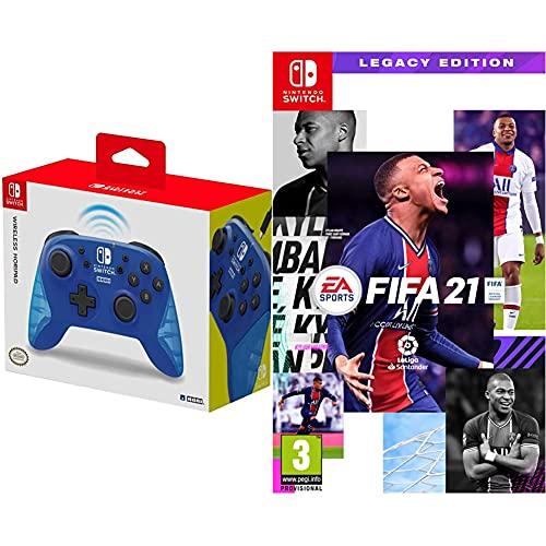 Hori Pad inalámbrico Azul (Nintendo Switch) + Electronic Arts FIFA 21 Legacy Edition Nintendo Switch