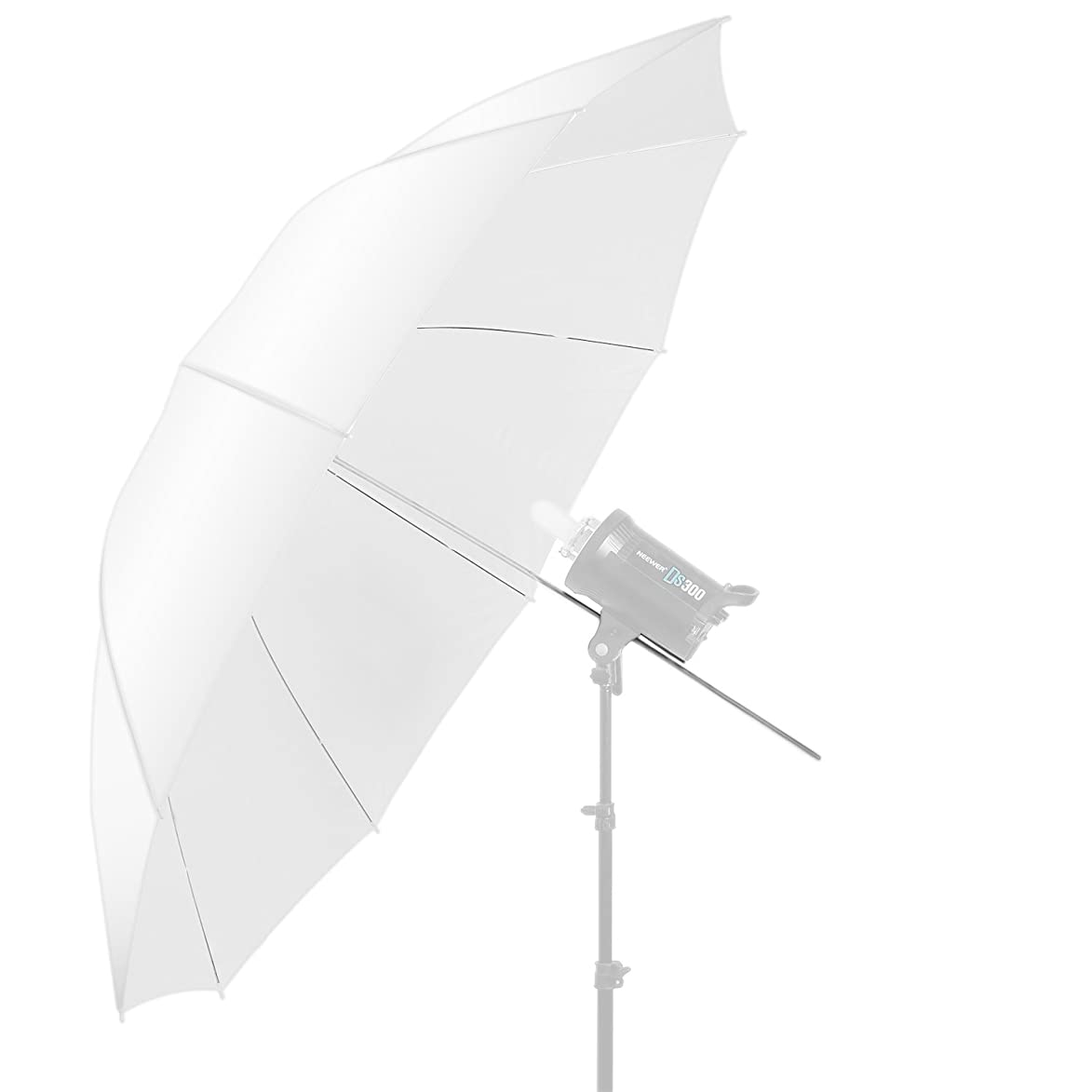 Neewer 60 inch/152cm Photography Translucent Soft White Diffuser Umbrella for Photo and Video Studio
