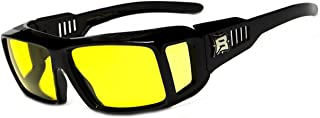 Fits Over Prescription Glasses- Driving -Hiking -XL Polarized Rectangular Shape Sunglasses