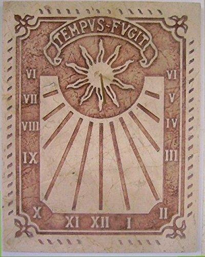 Art-Greus Sonnenuhr aus Marmor, cremefarben oder verspiegelt, römischer Stil