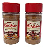 Red Robin Original Blend Signature Seasoning For Gourmet Burgers and Vegetables, Two 4 Ounce Bottles (8 Ounces Total)