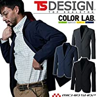 [ティーエスデザイン] 藤和 ステルス メンズ ジャケット 9136 作業服 テーラードジャケット L 25チャコールグレー