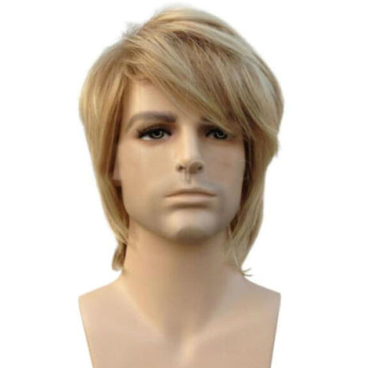 ええアセンブリ種をまくブロンド人用ウィッグナチュラルファッショナブルで耐熱性の短いショートストレートウィッグ高品質のヘアピース