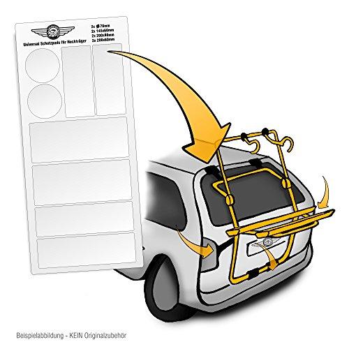 Lackschutzshop Universal Lackschutzfolien-Set für Auto-Heckträger - Selbstklebende, transparente Schutz-Pads für Fahrrad-Heckträger & Fahrrad-Träger
