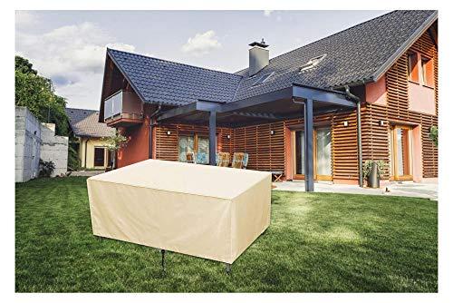 Abdeckung für Gartenmöbel,210D Oxford-Gewebe Regenschutz und Staubfest wasserdichte Schutzhülle,für Gartentische, Stühle und Möbelsets,180x120x120cm,Beige