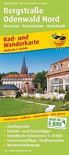 Bergstraße Odenwald Nord, Bensheim - Reichelsheim - Michelstadt: Rad- und Wanderkarte mit Ausflugszielen, Einkehr- und Freizeittipps sowie ... 1:50000 (Rad- und Wanderkarte: RuWK)
