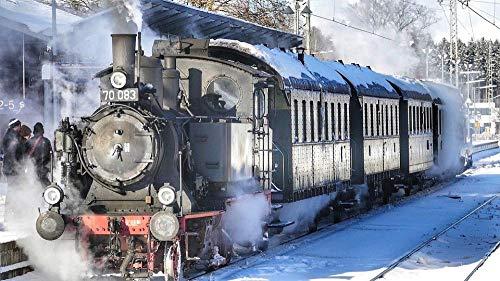 Patrón de Tren de Locomotora de Vapor Puzzle,Puzzles para Adultos,Rompecabezas,Puzzle 500 Piezas