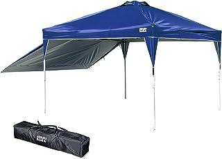 ENDLESS BASE テント タープ 【組み立てらくらく!】 ワンタッチ サイドシート1枚付き 3m×3m アウトドア 耐水加工 UVカット 3段階調節 タープテント 専用収納ケース付 ネイビー 19000014 60AM (74253)