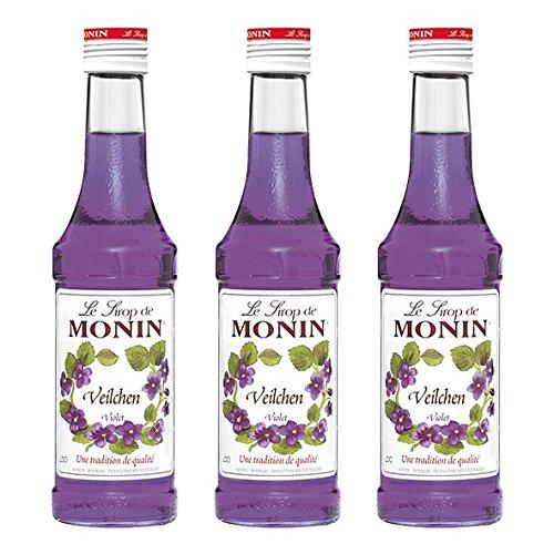 Monin Sirup Veilchen 0,25 l, 3er Pack