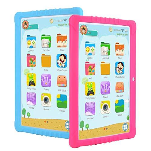 RCTOYS Tableta para Niños, 10.1 Pulgadas Tablet Infantil (Andorid 9.0 y Niños-Modo Doble Sistema,Quad-Core,2GB RAM y 16GB ROM,3G,WiFi, Google Play, Juegos Educativos),Rosado