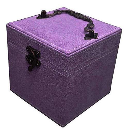 HLWAWA Cajas de joyería organizadores de la joyería del Estilo Simple de Color Joyero Puros for los Pendientes del Collar Anillo