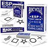 Magic Makers ESP Deck Bicycle Back Cards with Complete Online Course