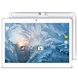 Upgrade - YUNTAB 10.1 inch Android Tablet PC, 2GB RAM 16GB ROM, 1.3 GHz Quad Core CPU, WiFi/Unlocked 3G Connection, IPS Touch Screen,with Dual SIM Card Slots, Dual Camera (White)