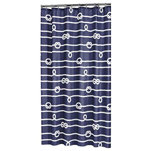 Sealskin Textil Duschvorhang Rope, Farbe: Blau, B x H: 180 x 200 cm
