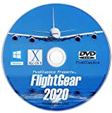 FlightGear Flight Simulator 2020 X Flight Sim Plane & Helicopter Including 500+ Aircraft DVD CD Disc For Microsoft Windows 10 8 7 Vista PC & Mac OS X