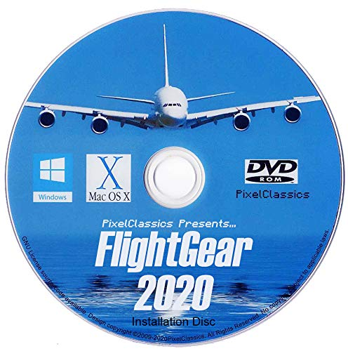 small FlightGear Flight Simulator 2020 X Flight Simulator Airplanes and Helicopters Includes over 500 airplane DVDs …