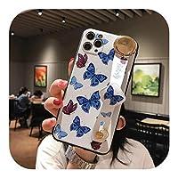 Xungg iPhone 11Proかわいいバタフライリストストラップ電話ケースMAXX XR XS MAX 7 8 6 6s Plus SE2020ソフトTPUチルトストラップバックカバー-Case Lanyard 3-For iPhone XS Max