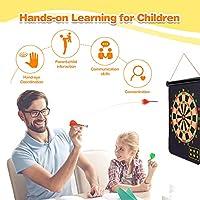 LET'S GO! Giocattoli Bambino 3-10 Anni,Gadget Compleanno Bambini Regali per Ragazzi di 10-14 Anni Giochi Bambini 3-10 Anni Giocattoli Bambina 3-10 Anni Regali Bambina 3-10 Anni Bersaglio Freccette #3