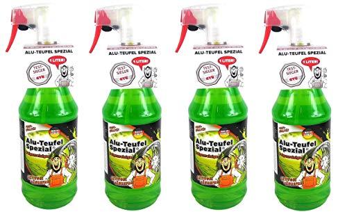 Tuga 4 x 1 Liter Alu-Teufel Felgenreiniger Spezial Säurefreies Aktivgel für Felgen und Radkappen. Biologisch abbbaubar