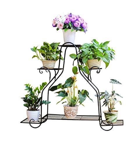 ChenDz En fer forgé multi-couche stand de fleurs vert Luo Lan Lan balcon étagère à fleurs Meaty salon intérieur étage pot rack (Size : 82.3×22.2×72.5cm)