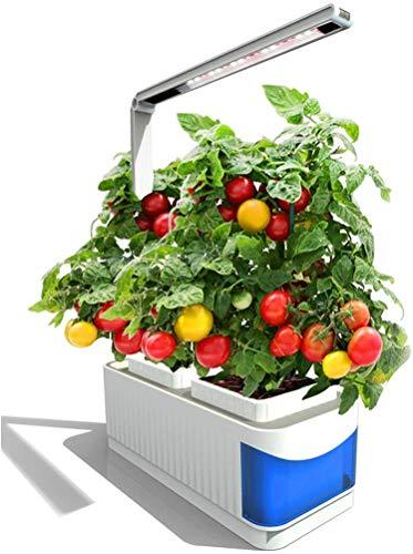 Smart Herb Garden Hydroponics Pathonor Kit de luz LED para Crecimiento de Plantas de Interior Mini jardín Macetas de riego automático, plantación de Semillas y lámpara de Lectura Inteligente para esc