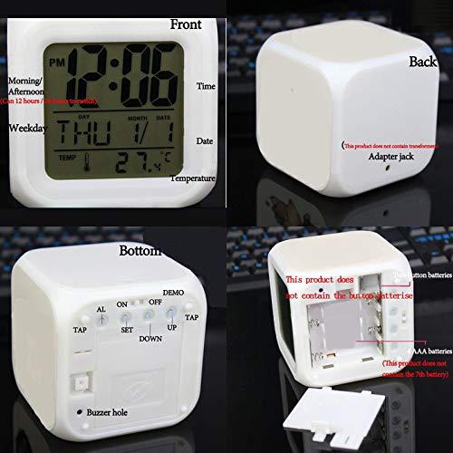 YXYL Cartoon Alarm Clock Best Gifts for Kids Led Digital Alarm Clock Clock Night Light Calendars Watch