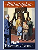 Philadelphia Pennsylvania: Vintage Travel Poster Cover | Jan 1, 2021 to Dec 31, 2021 | Full Year Calendar Page | 8.5 X 11 Inches | 120 Pages | Inspirational Quotes & Pages for Notes