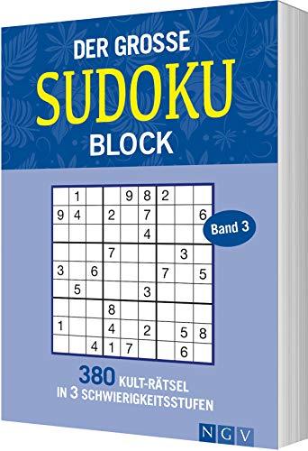 Der große Sudokublock Band 3: 380 Kulträtsel in 3 Schwierigkeitsstufen