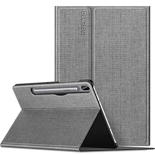 INFILAND Hülle für Samsung Galaxy Tab S6 2019, Schutzhülle Hülle mit Auto Schlaf/Wach Funktion für Samsung Galaxy Tab S6 10.5 Zoll (SM-T860/T865) 2019,Grau