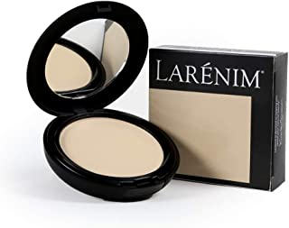 Larénim Mineral Silk Light/Medium Pressed Powder   For a Flawless Matte Finish with Dewy Glow   Phthalate, Paraben & Gluten Free   Lt-Med Color   9g