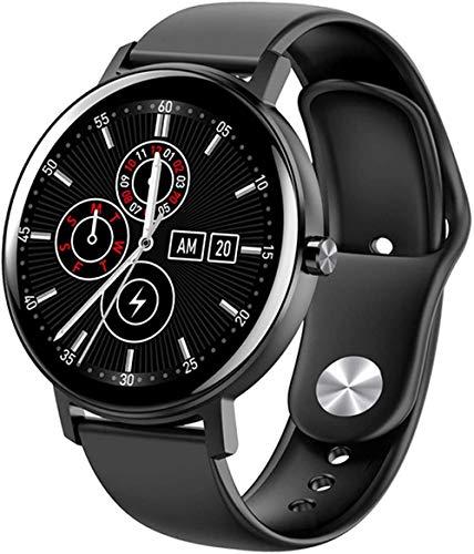 R18 Reloj inteligente táctil completo para hombres y mujeres s ritmo cardíaco rastreador de fitness control de música Smartwatch esfigmomanómetro Smart Watch-a