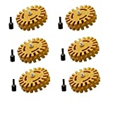 Pinstripe Removal Tool Adhesive Remover Decal Removal Rubber Eraser Wheel - 6 Pack