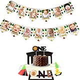 LaVenty 3 PCS Camping First Birthday Party Decor One Happy Camper Party Decor Camping 12 months photo banner Lumberjack Party Decor One Happy Camper Banner