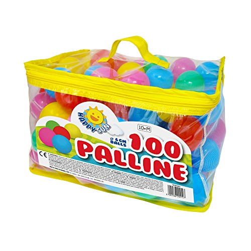 MANDELLI LOGISTICA Palline Colorate per Bambine Palline Colorate per Piscina Palline Bambine 1 Anno Gomma 100 Palline Morbide Colorate 100 Palline Colorate 6 cm Diametro
