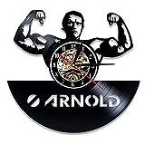 N/Y / Y Arnold Schwarzenegger Reloj de Pared con Disco de Vi