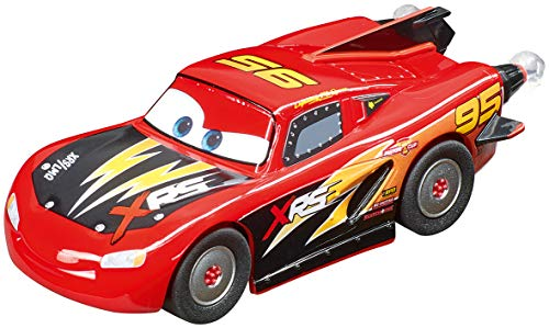 Carrera 64163 Disney Pixar Cars Lightning McQueen Rocket Racer 1:43 Scale Analog Slot Car Racing Vehicle for Carrera GO!!! Slot Car Race Tracks