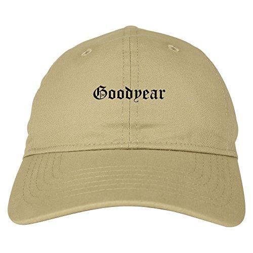 Kings Of NY Goodyear City Arizona AZ Goth 6 Panel Dad Hat Cap Beige