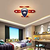 Personalidad Moderna Lámpara de Techo LED Dormitorio Luz de Techo LED de Dibujos Animados Avión Creativo Hotel Cocina Oficina Luz de Techo,Warm Light,58 * 55CM