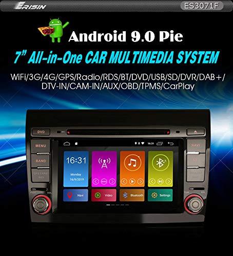 """Autoradio Erisin ES3071F 7"""" Android 9.0 DAB+ GPS DSPper FIAT BRAVO"""