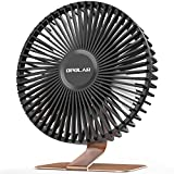 OPOLAR 6'' USB Desk Fan, More Quiet and Powerful, Small Office Desktop Table Fan, Mini Room Air Circulator, Personal Portable Fan, 4 Speeds, 90° Tilt Angle, 5 ft Cord, Bronze Base, 2021 Model