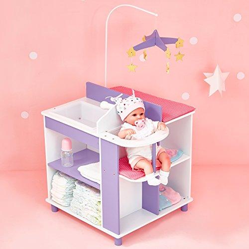 Puppen-Wickeltisch Puppenschrank Puppenzubehör Spielzeug Olivias World TD-0203A