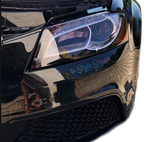 TÖNUNGSFOLIE HELLSCHWARZ 200CM X 30CM Wasser und UV Beständig Auto Folie Light Black VERDUNKLUNGSFOLIE für RÜCKLEUCHTEN am Auto